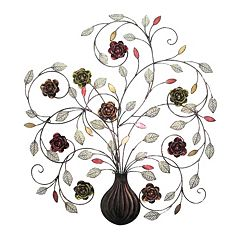 Floral Metal Wall Decor by