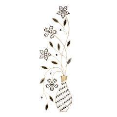 Floral Vase Metal Wall Decor