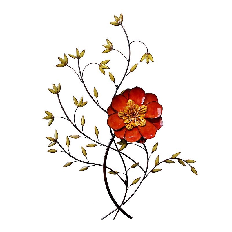 Floral Bloom Metal Wall Decor