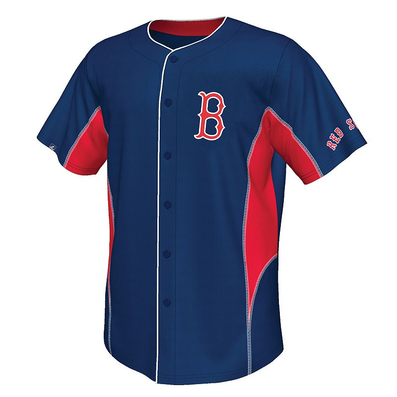 Big & Tall Majestic Boston Red Sox Cooperstown Team Leader Jersey