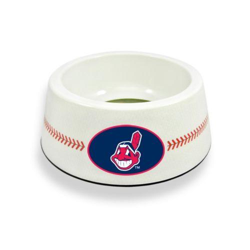 GameWear Cleveland Indians Classic Baseball Pet Bowl