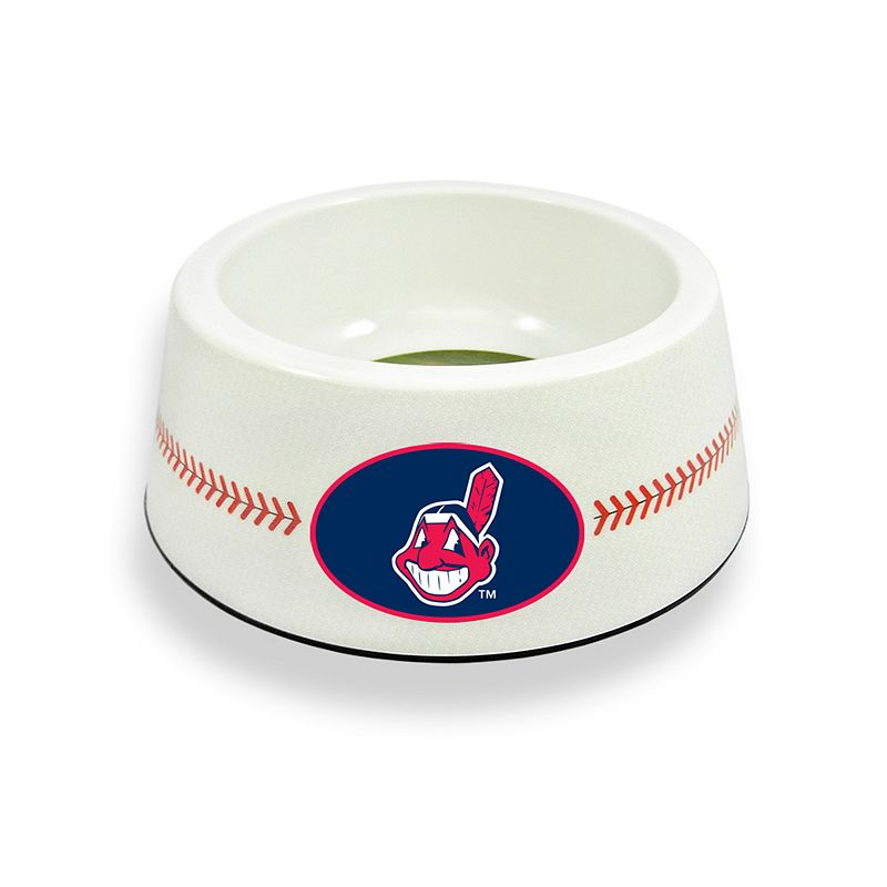 GameWear Cleveland Indians Classic Baseball Pet Bowl
