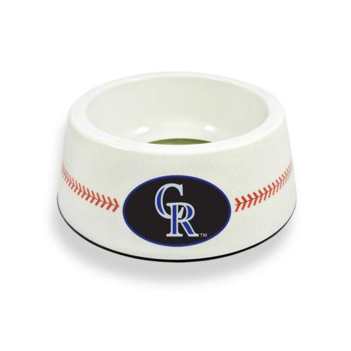 GameWear Colorado Rockies Classic Baseball Pet Bowl
