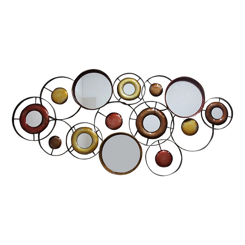 Abstract Mirrored Circles Metal Wall Decor