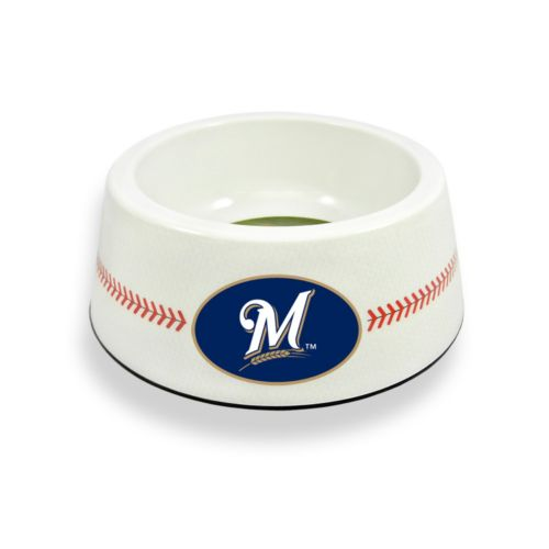GameWear Milwaukee Brewers Classic Baseball Pet Bowl