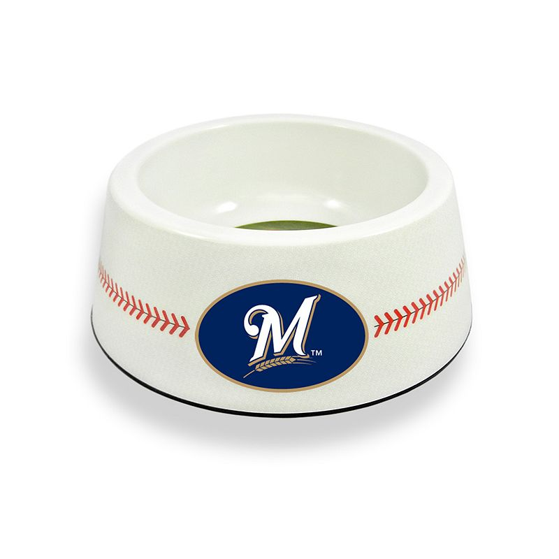GameWear Milwaukee Brewers Classic Baseball Pet Bowl