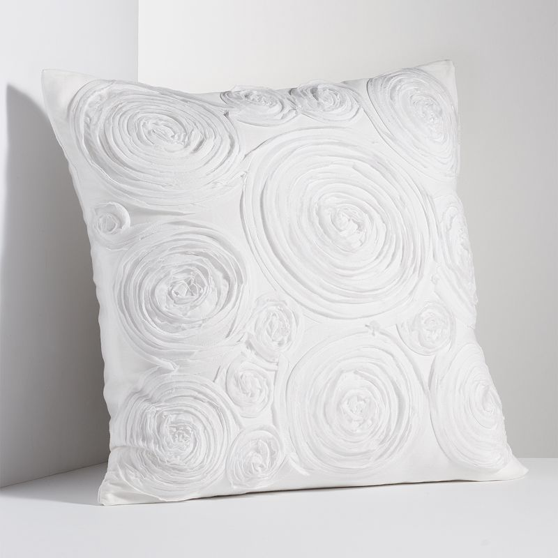 Simply Vera Vera Wang Simplicity Rosette Throw Pillow