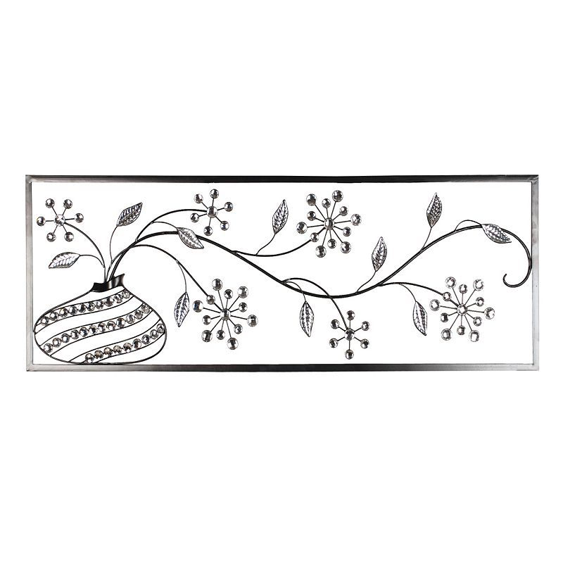 Abstract Floral Metal Wall Decor
