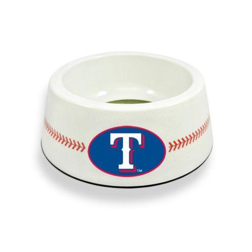 GameWear Texas Rangers Classic Baseball Pet Bowl