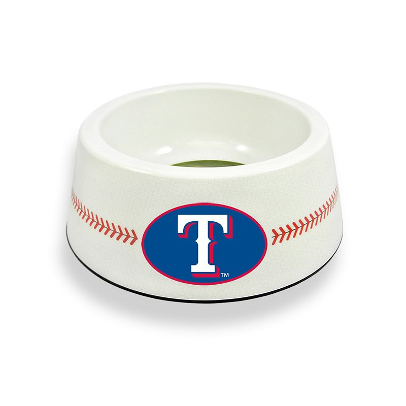 GameWear Texas Rangers Classic Baseball Pet Bowl