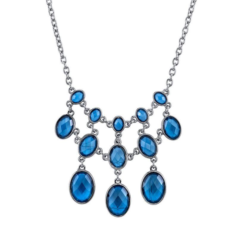 1928 oval bib necklace