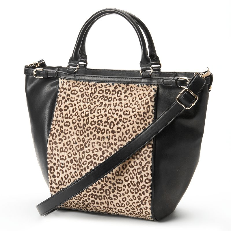 Adrienne Landau Cheetah Zip-Top Convertible Tote