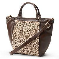Adrienne Landau Cheetah Zip-Top Convertible Tote