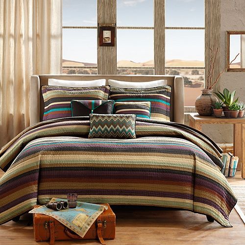 Madison Park Sequoia 6 Pc Quilted Coverlet Set