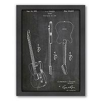 Americanflat ''Fender Guitar'' Framed Wall Art