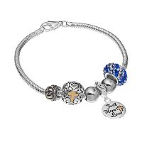 Individuality Beads 14k Gold Over Silver Snake Chain Bracelet &