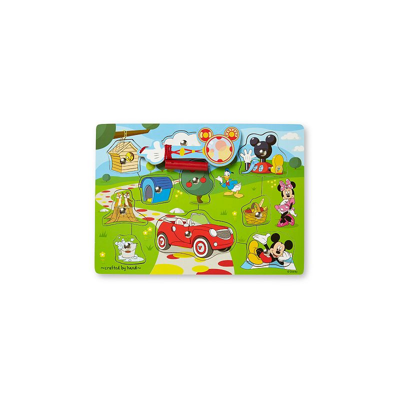 Disney Mickey Mouse Clubhouse Hide and Seek Wooden Magnetic Game by Melissa and Doug