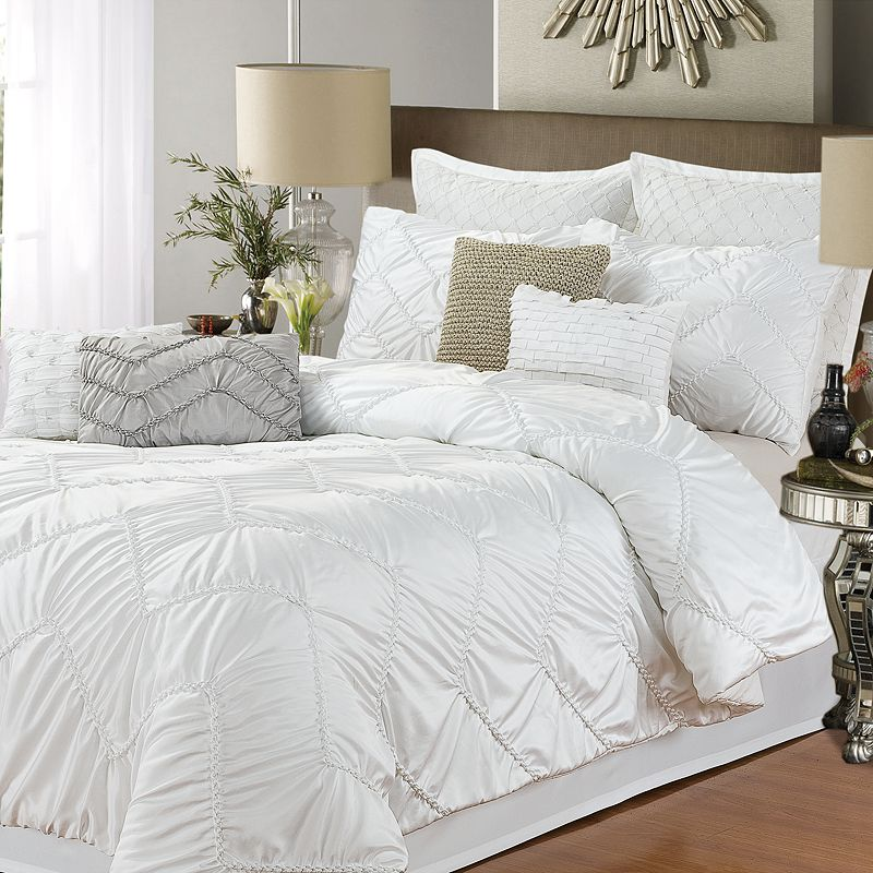 Isabella White 5-pc. Comforter Set