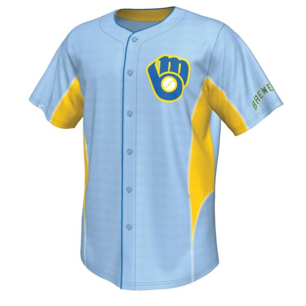 Big & Tall Majestic Milwaukee Brewers Cooperstown Team Leader Jersey
