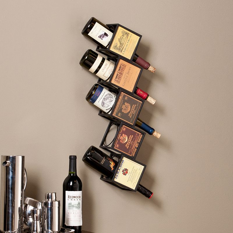 Southern Enterprises Eva 5-Bottle Wall Wine Rack