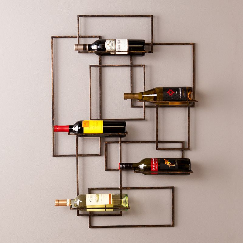 Southern Enterprises Venice 5-Bottle Wall Wine Rack