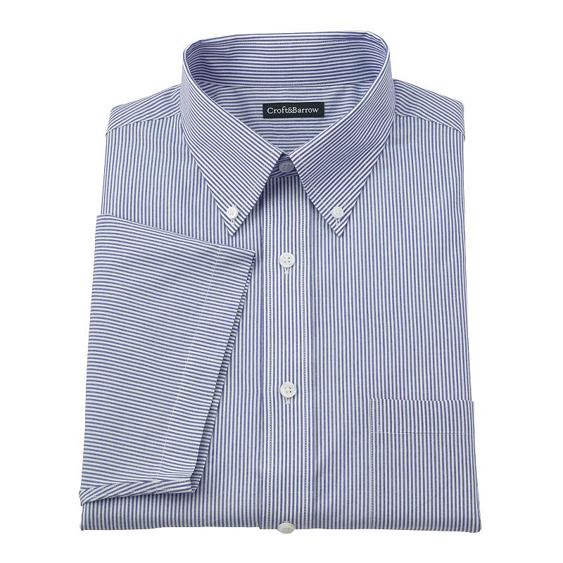 Men's Croft & Barrow® Classic-Fit Striped Button-Down Collar Dress Shirt