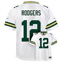 Boys 8-20 Nike Green Bay Packers Aaron Rodgers Game NFL Replica Jersey