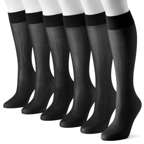 Apt. 9® 6-pk. Smooth Trouser Socks