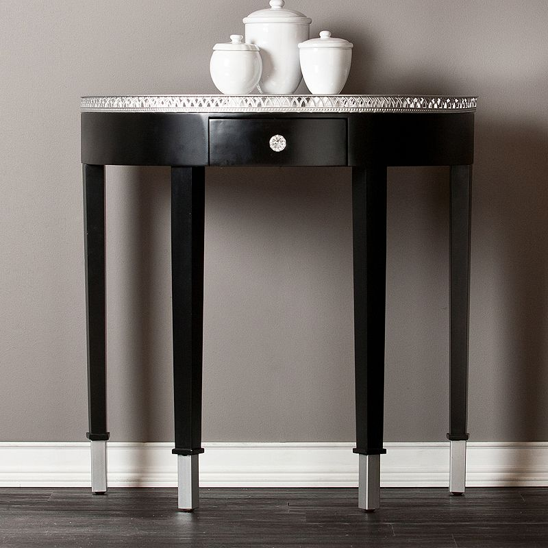 Southern Enterprises Dorsey Mirrored Side Table