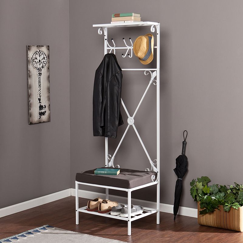 Southern Enterprises Entryway Storage Rack and Bench