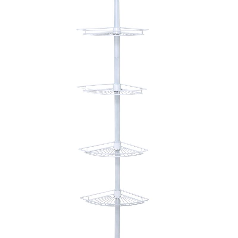 Zenna Home White Corner Tension Pole Tub & Shower Caddy thumbnail