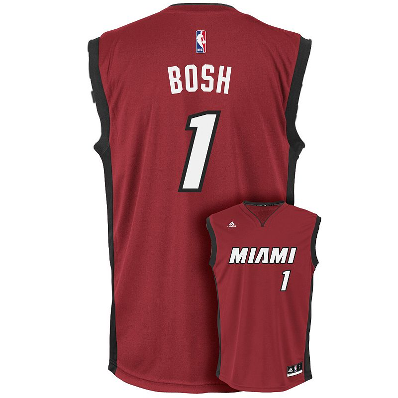 Men's adidas Miami Heat Chris Bosh NBA Replica Jersey