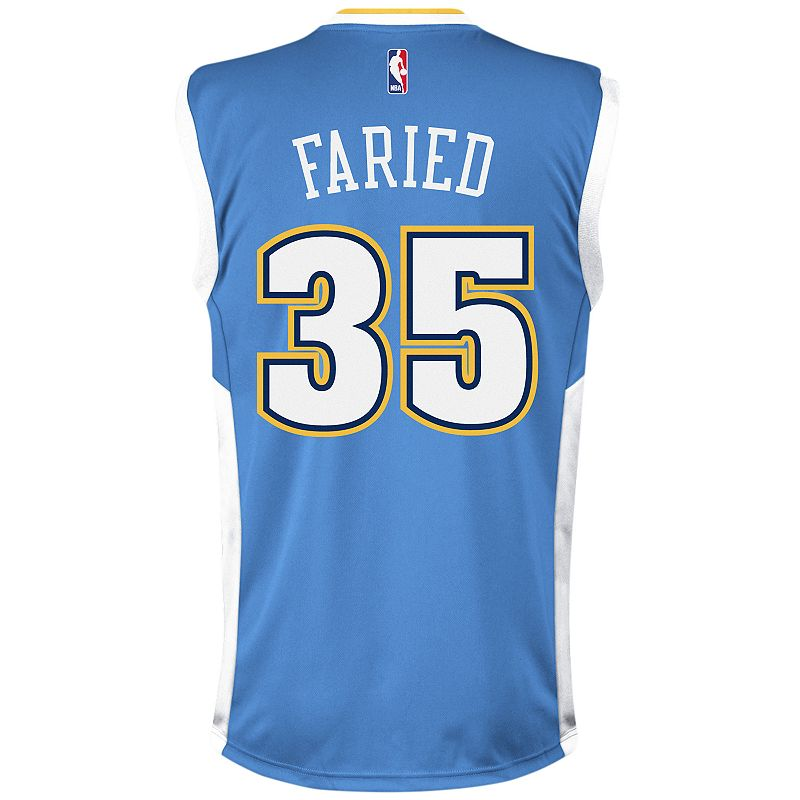 Men's adidas Denver Nuggets Kenneth Faried NBA Replica Jersey