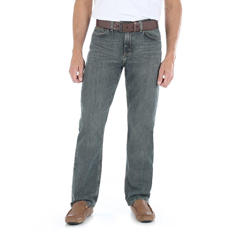 Men's Wrangler Straight-Fit Jeans, Size: 42X30, Blue