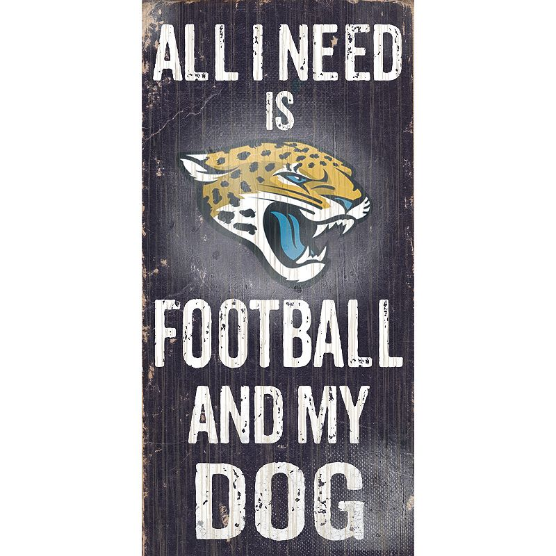 Jacksonville Jaguars Football and My Dog Sign