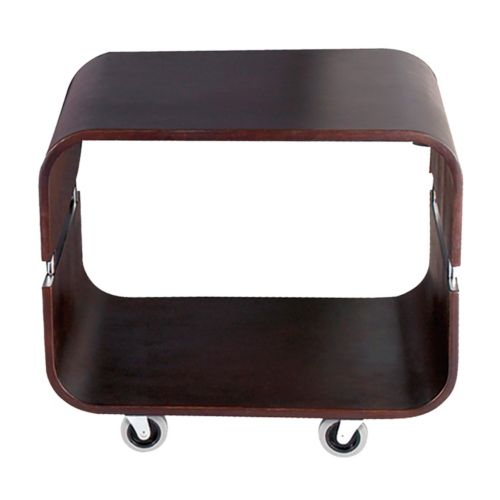 Adesso Contour Rolling End Table