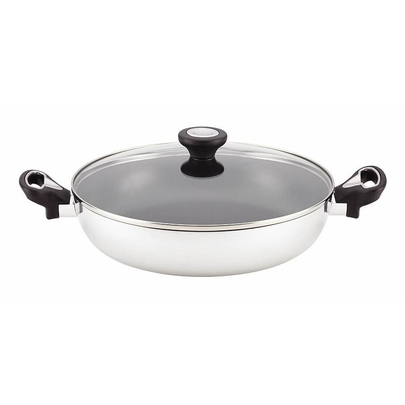 Farberware New Traditions Aluminum 11-in. Covered Nonstick Everything Pan