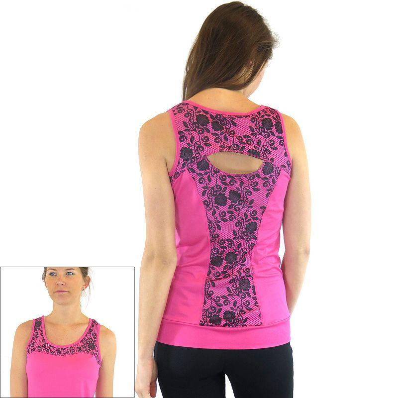 Plus Size Ryka Lace Yoga Tank