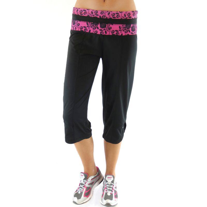 Plus Size Ryka Lace Yoga Capris, Women's, Size: 3XL, Black