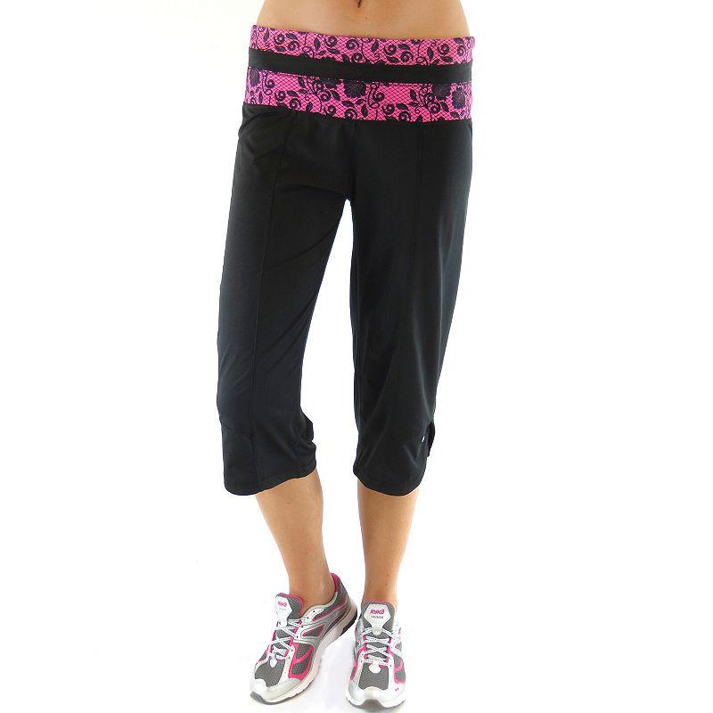 Plus Size Ryka Lace Yoga Capris