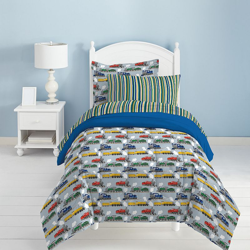 Dream Factory Trains 4-pc. Bed Set - Toddler