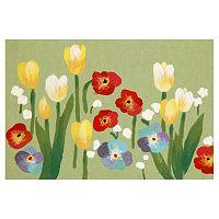 Trans Ocean Imports Liora Manne Visions III Le Jardin Floral Doormat - 20'' x 29 1/2''
