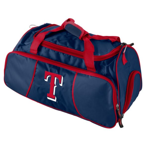 Logo Brand Texas Rangers Athletic Duffel Bag