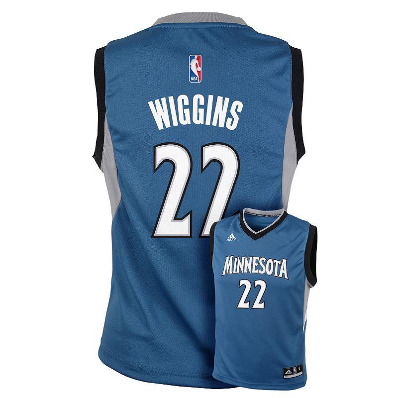 adidas Minnesota Timberwolves Andrew Wiggins NBA Replica Jersey - Boys 8-20