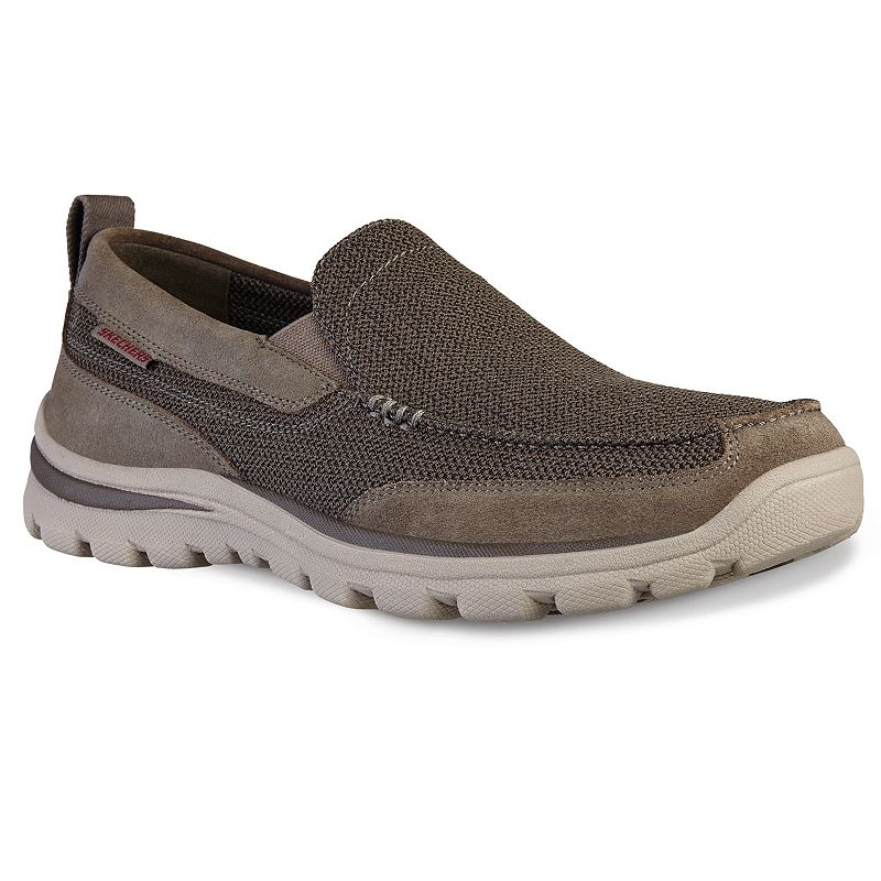Womens Skechers Summits athletic sneaker offers a flat knit mesh fabric nearly one piece upper, stability knit mesh panels, slip on bungee knit athletic design, nearly seamless upper design, synthetic overlays at heel and front instep panels, padded collar and tongue, soft fabric shoe lining,.