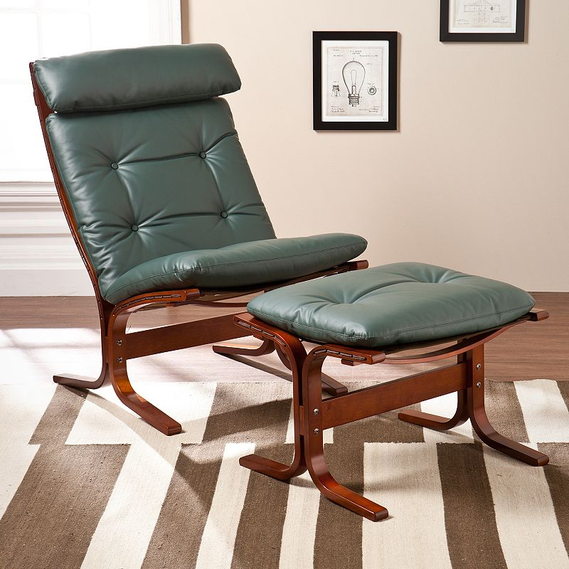 Southern Enterprises Kendall Chair and Ottoman
