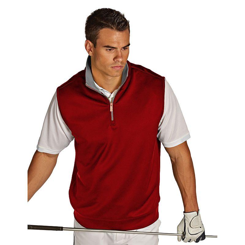Antigua Heavy Interlock 1/4-Zip Golf Vest - Men