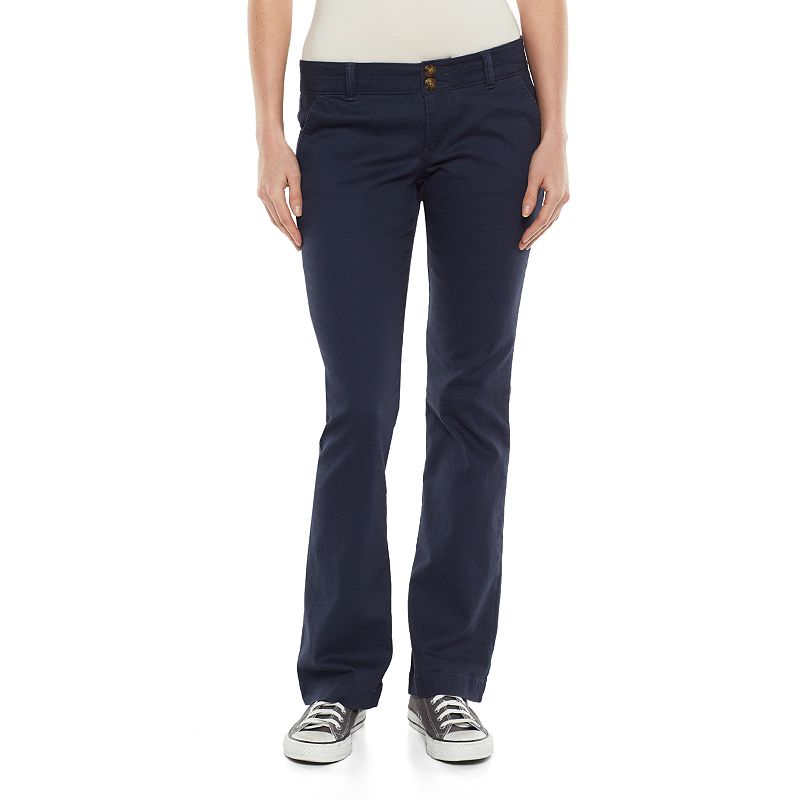 Juniors' SO® Uniform Bootcut Pants