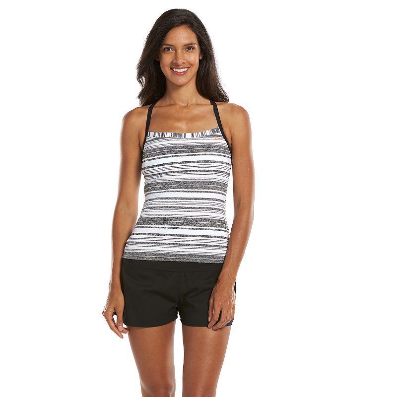 Nike Striped Racerback Tankini Top - Women's