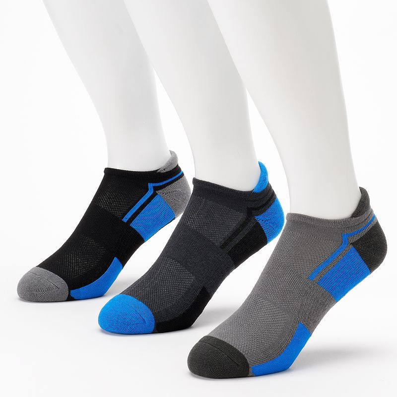 Men's GOLDTOE 3-pack PowerSox No-Show Socks